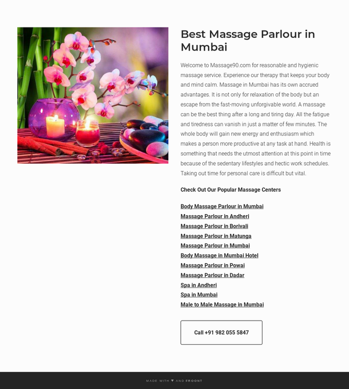 Massage Parlour Mumbai by Massage90 on FROONT
