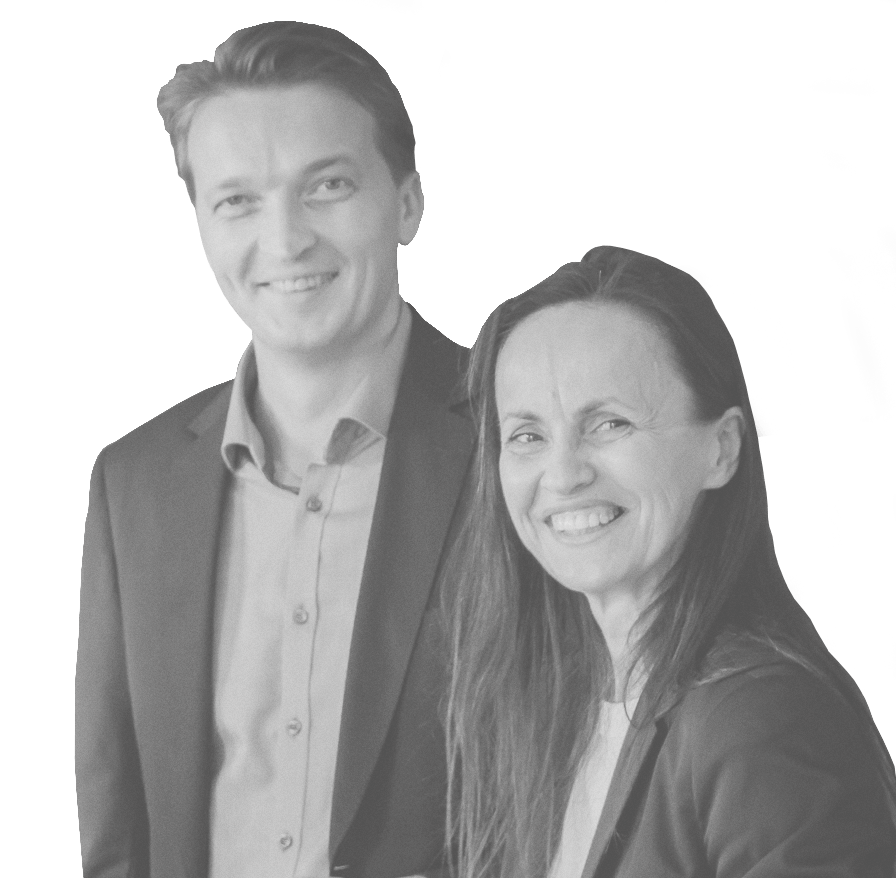 Inese Morozova and Ivo Urbanovics, founders of Riga Accounting Hub.